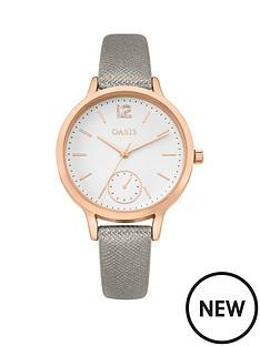 oasis-white-dial-grey-strap-ladies-watch