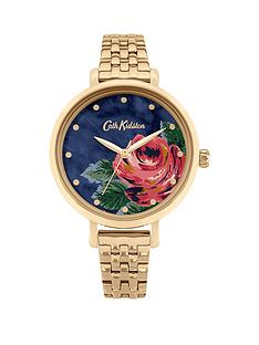 cath-kidston-cath-kidston-oxford-rose-navy-dial-gold-bracelet-ladies-watch