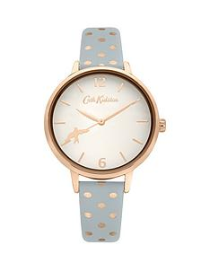 cath-kidston-cath-kidston-white-and-rose-gold-detail-dial-blue-button-dot-print-leather-strap-ladies-watch