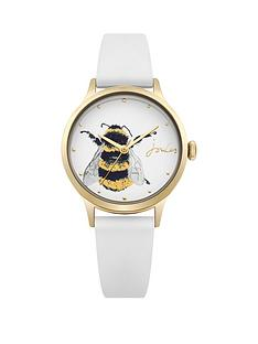 joules-joules-ren-ladies-off-white-bee-dial-off-white-silicone-strap-ladies-watch