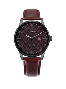 joules-joules-marfield-port-black-dial-brown-leather-strap-gents-watch