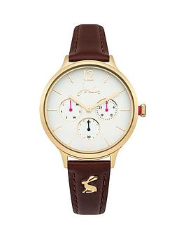 joules-joules-darcy-white-multi-dial-tan-leather-strap-ladies-watch