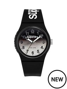 superdry-superdry-urban-laser-silverblack-graduated-dial-black-silicone-strap-unisex-watch