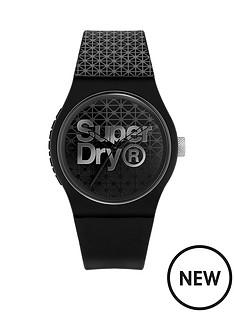 superdry-superdry-urban-geo-sport-black-dial-black-silicone-strap-unisex-watch
