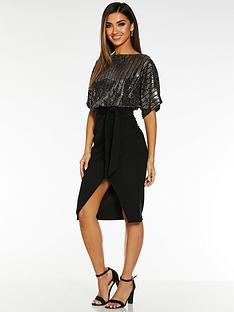 quiz-quiz-x-sam-faiers-sequin-batwing-belted-dress-black