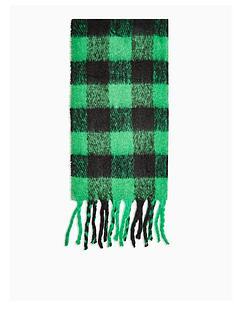 topshop-topshop-heavy-punk-check-scarf-green