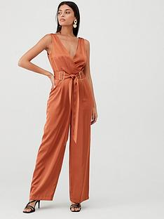river-island-buckle-jumpsuit-rust