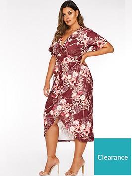 quiz-curve-quiz-curve-better-floral-chain-print-wrap-dress