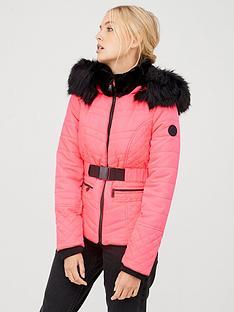 river-island-river-island-fluro-belted-padded-jacket-pink