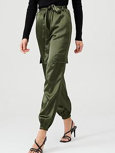 v-by-very-satin-pocket-detail-utility-trouser-khaki