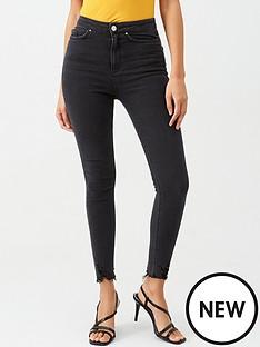 v-by-very-charley-high-waisted-destroyed-hem-skinny-jean-washed-black