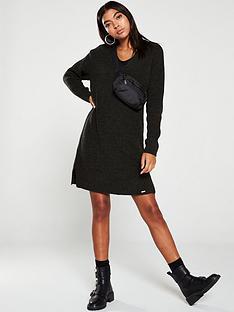 superdry-marissa-vee-knit-dress-khakinbsp