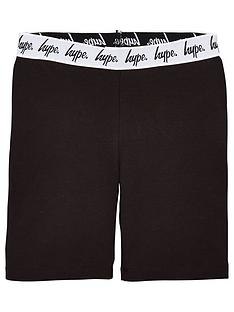 hype-girls-waistband-cycling-shorts-black