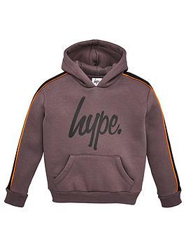 hype-boys-script-panel-hoodie-grey