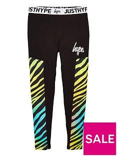 hype-girls-zebra-panel-waistband-leggings-black