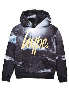 hype-boys-moons-foil-hoodie-black