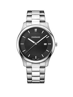 wenger-wenger-swiss-made-black-43mm-date-dial-stainless-steel-bracelet-mens-watch