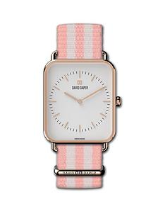 david-daper-david-daper-white-and-rose-gold-34mm-tank-dial-white-and-pink-stripe-nato-strap-watch