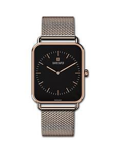 david-daper-david-daper-black-and-rose-gold-34mm-tank-dial-rose-gold-stainless-steel-mesh-strap-watch