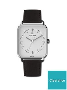 david-daper-david-daper-white-and-silver-38mm-tank-dial-black-leather-strap-watch