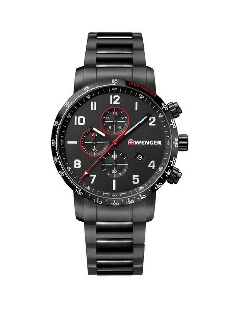 wenger-wenger-swiss-made-attitude-black-and-red-detail-44mm-chronograph-dial-black-ip-stainless-steel-bracelet-mens-watch