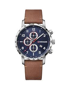 wenger-wenger-swiss-made-blue-sunray-and-silver-detail-chronogragh-44mm-dial-tan-leather-strap-mens-watch
