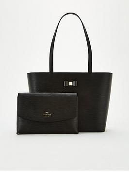 ted-baker-deannah-bow-detail-shopper-black