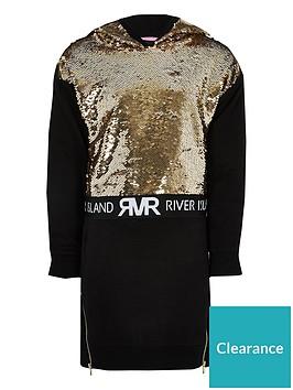 river-island-girls-sequin-embelished-jumper-dress-black