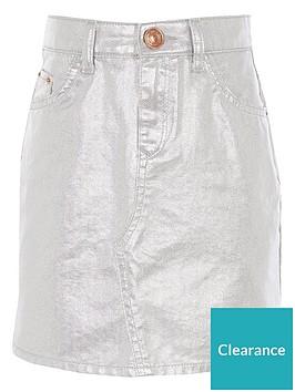 river-island-girls-metalic-denim-mini-skirt-silver