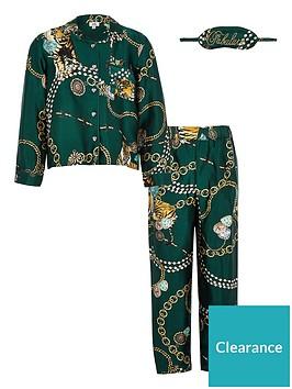 river-island-girls-satin-twinning-pyjama-set-green