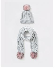 river-island-girls-cable-knit-hat-and-scarf-set-grey