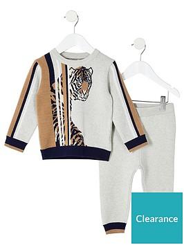 river-island-mini-mini-boys-tiger-print-2-piece-outfit-cream