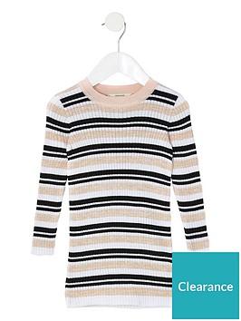 river-island-mini-girls-stripe-knitted-dress-multi