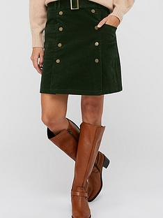 monsoon-libby-cord-skirt-olive