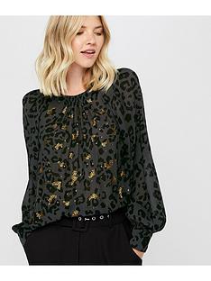 monsoon-ola-animal-embellished-top-black