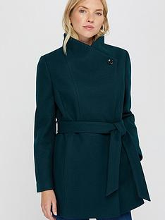 monsoon-rita-wrap-collar-short-coat-teal