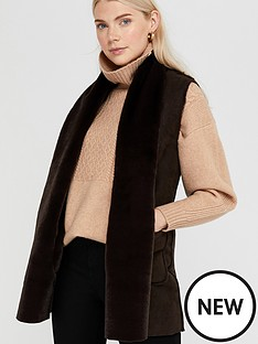 monsoon-sherry-suedette-gilet-brown
