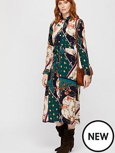 monsoon-pearly-queen-print-shirt-dress-teal