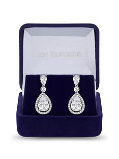 jon-richard-jon-richard-cubic-zirconia-tennis-pear-crystal-drop-earring