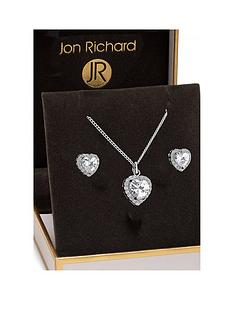 jon-richard-jon-richard-cubic-zirconia-pave-heart-pendant-and-earring-set