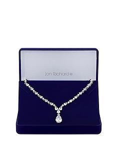 jon-richard-jon-richard-cubic-zirconia-crystal-graduated-pear-y-drop-necklace