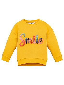 v-by-very-girls-smile-ruffle-sweat-mustard
