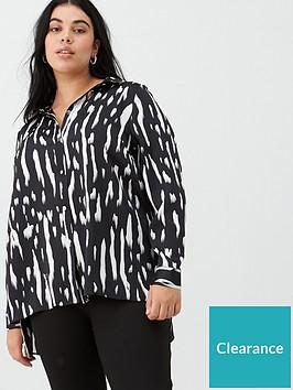 v-by-very-curve-mono-longline-shirt-black-white