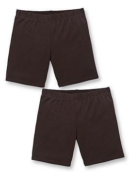 v-by-very-girls-2-pack-school-cycling-shorts-black