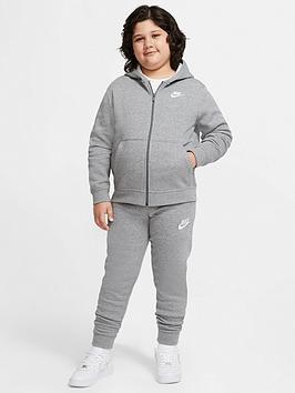 nike-nsw-older-boys-club-full-zip-hoodie--nbspgrey-heather