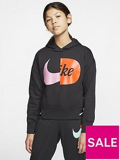 nike-sportswear-air-older-girlsnbspoverhead-hoodie-blackwhite