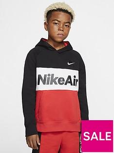 nike-sportswear-air-older-boys-overhead-hoodie-blackred