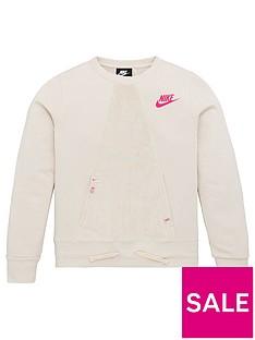 nike-sportswear-older-girls-heritage-crew-neck-sweat-cream