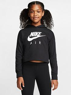 nike-sportswear-air-older-girls-overhead-cropped-hoodie-black