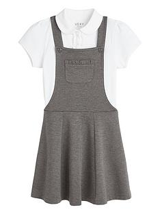 v-by-very-girls-school-jersey-polo-and-pinaforenbspset-grey